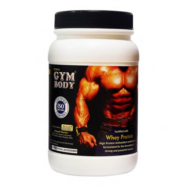 gym body whey protein powder