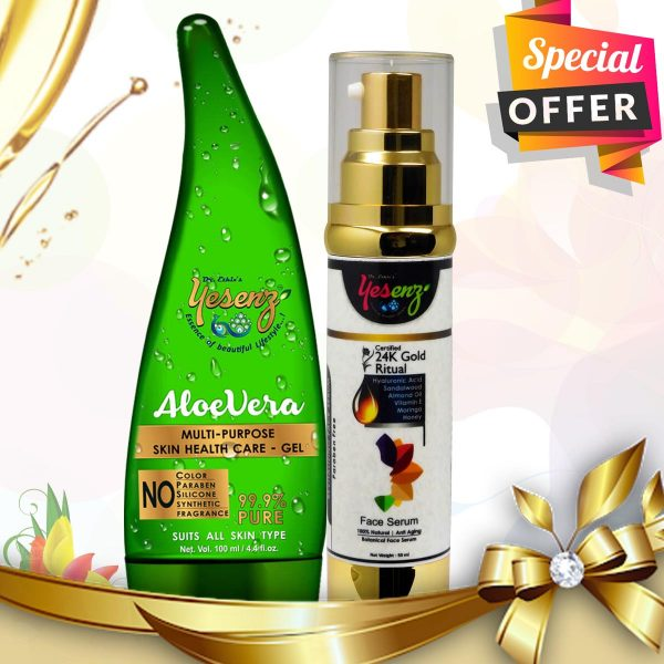 aloe vera gel for face & face serum