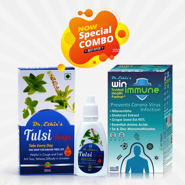 Win immune Tablets and Tulsi Drops Combo Pack